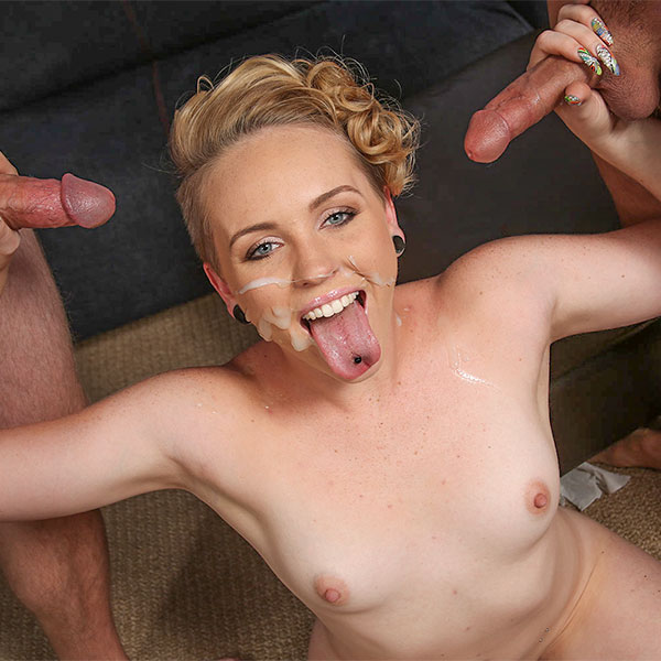 Busty brits tongue